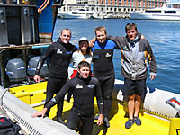 Tag team in the Capetown harbour with captain Gerhard Beukes.