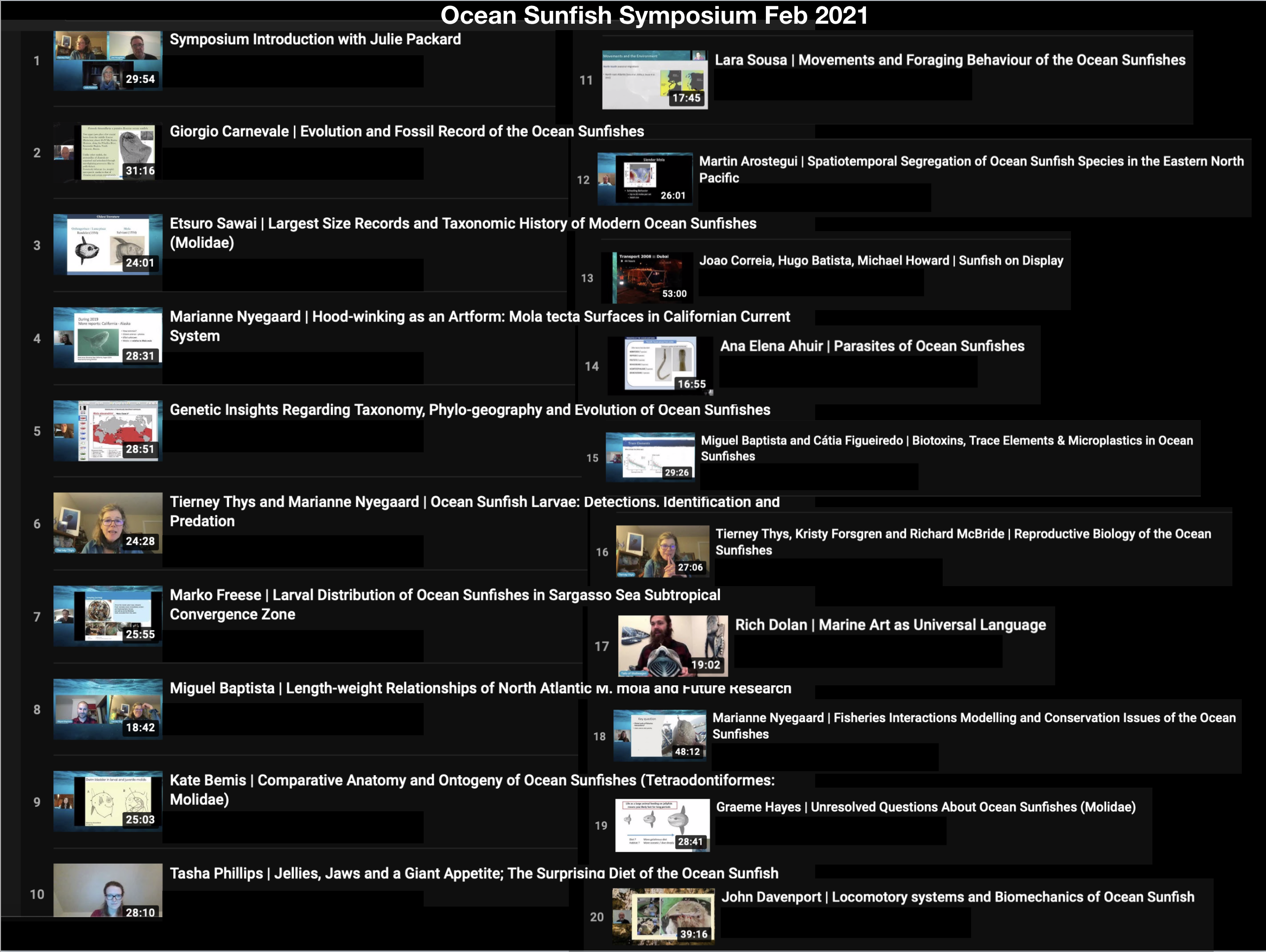 Image link to Ocean Sunfish Symposium video playlist